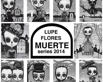 Muerte Series art print set by Lupe Flores