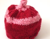 Strawberry Short Cake Baby Hat 6-12 months
