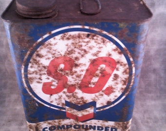 Vintage Standard Oil Compounded Paint Thinner Can