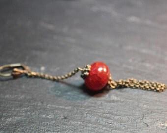 Boucles d'oreille collection zaia. Cornaline