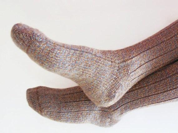 Handknit Heather Tweed Mens Socks