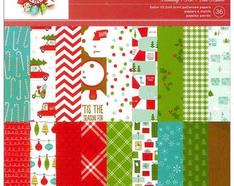 6x6 Christmas Patterned Paper Pad from American Crafts - Be Merry