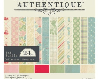 6x6 Paper Pad from Authentique - Precious