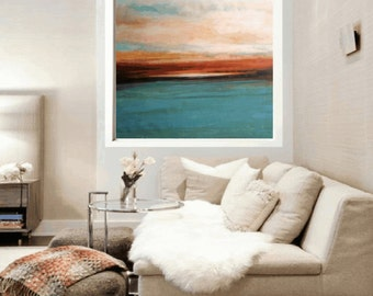 """Art Painting 48"""" x48""""abstract art  HUGE abstract  painting  Acrylic painting  Jolina Anthony"""