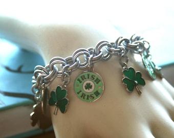 Irish Clover Charm Bracelet