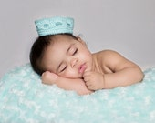 Baby Crown/Baby Tiara/Photo Prop/Aqua Blue Crown