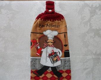 Hanging Double Kitchen Towel Bistro Chef Towel Lobster Towel