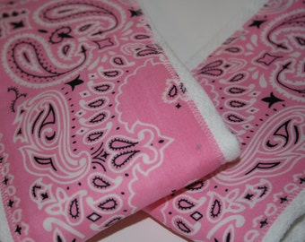 Burp Cloth/Burp Rag Baby Cotton Diaper Light Pink Bandana (1)