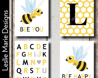 Bumblebee Wall Art | Bumble Bee Wall Art | Bumble Bee Nursery Art | Bee Wall Art | Canvas Prints | Printable Art | Baby Shower Gift