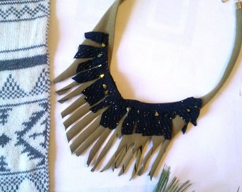 wind song ' fringe bib necklace