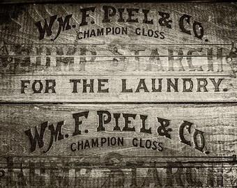 Sepia Laundry Decor, Sepia Photography, Sepia Print, Sepia Art, Sepia Tone Print or Canvas Wrap, Laundry Room Art, Rustic Laundry Decor.
