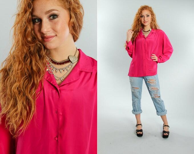 Large 18 W Vintage Pink Blouse | 5CC