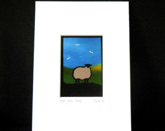 one grey sheep  ACEO