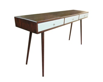 Mid Century Desk / Entryway Table - MADE TO ORDER