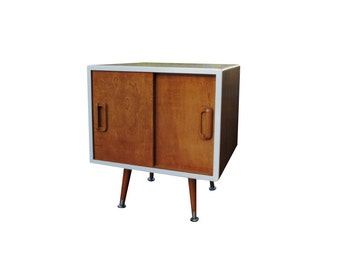 Mid Century Inspired Record Storage Cabinet - MADE TO ORDER