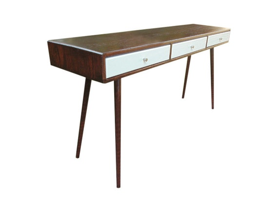 mid century desk entryway table made to order
