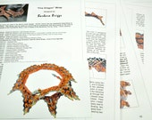 """Tutorial for the """"Fire Dragon"""" Wrap (inspired by contemporarygeometricbeadwork.com)"""