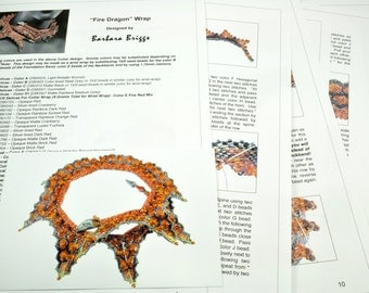 "Tutorial for the ""Fire Dragon"" Wrap (inspired by contemporarygeometricbeadwork.com)"