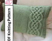knit pattern pdf, Celtic knot, cable knit pillow cover in 4 sizes - PDF KNITTING PATTERN