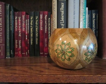 pyrography Nine Pointed Start gourd art bowl