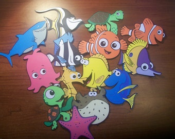Finding Nemo Cupcake Toppers - 14 pack - Variety of Characters