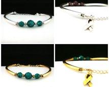 Mental Health Awareness Bracelet - Liver Cancer Awareness Bracelet - Dark Green Awareness Bracelet
