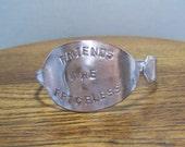 Silverware Jewelry Bracelet- Silver Adjustable Bracelet- Vintage Silverware Bracelet- Vintage Silverware Bracelet