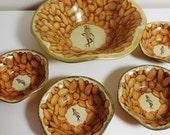 Mr Peanut Snack Set -  Vintage Metal Bowls