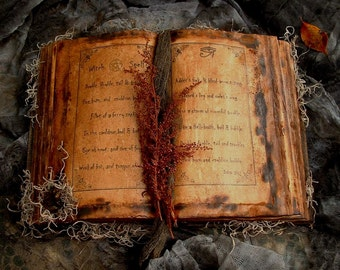 Primitive Halloween Witch Spell Book