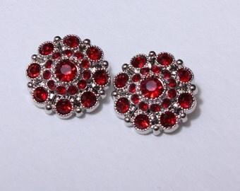 Set of 5 Rhinestone Acrylic Button, Button embellishment,28 mm,Rhinestone Buttons, wholesale rhinestone button,bow center
