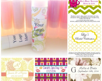 10 count custom lip balm labels party favor mini gift for 2 125 x 1 6875 label template