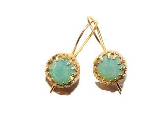 dangle earrings, crystal earrings, pink earrings, small dangle earrings, earrings, pearl earrings, bridal earrings, small earrings