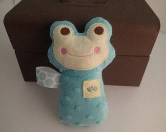Soft Minky & Camo Frog Rattles