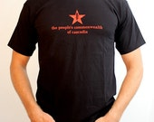the people's commonwealth of cascadia - Men's Black T-shirt
