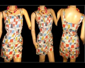 Reserved  ~  Vintage 1950s Playsuit .  Romper .  Novelty Print Play-suit Swimsuit