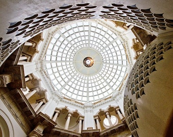 London photography, London photo, white, fine art photography - A London Window on the World