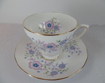 Vintage Teacup: Avon Blue Blossoms Teacup & Saucer