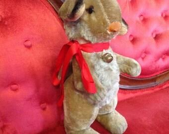 Vintage Maruei Japan Rabbit Easter Bunny Ribbon & Bell 1950s