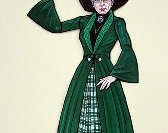 Minerva McGonagall Articulated Paper Doll