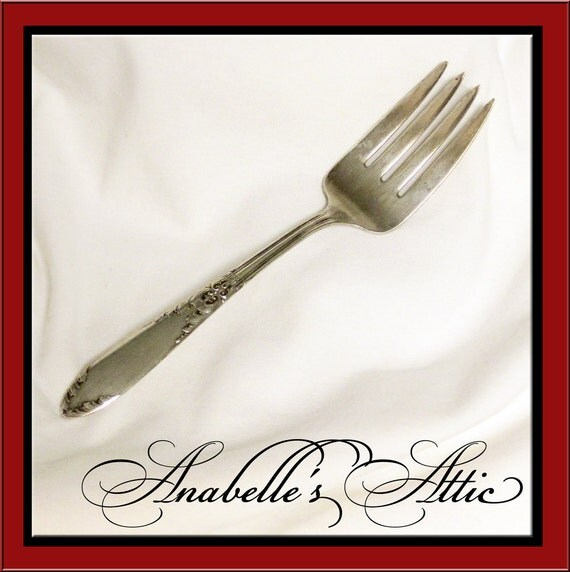 King Edward Silver Plate Cold Meat Serving Fork / Entertaining / Buffet / Elegant / Downton Abbey