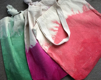 Custom Dip-Dyed Cotton Lightweight Tote