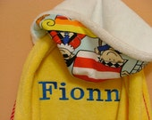 Add PERSONALIZATION- CUSTOM NAME for Hooded Kids Towels