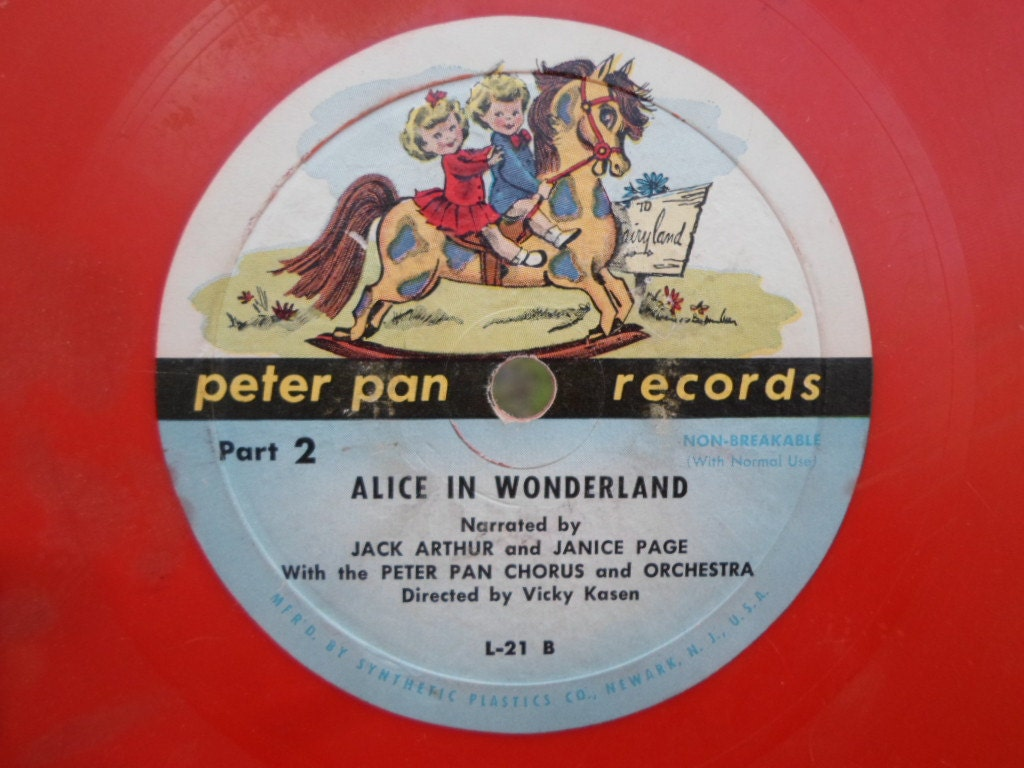 Vintage 45 Rpm Red Record Childs Peter Pan Records 1940s To