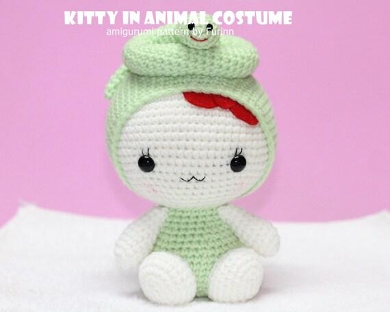 PDF Pattern Kitty in Snake Costume / Chinese Zodiac Snake
