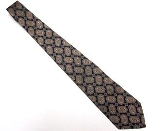 """Red Blue Necktie 4"""" Wide Tie Silk Claybrooke"""