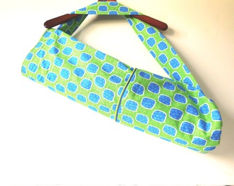 XL Green and Torquoise  Yoga Mat Bag