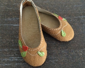 Nature model. Brown Suede Shoes decorated. MSD, Minifee Shoes on box Pre-Order