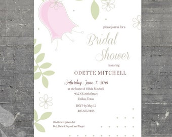 Printable Bridal Shower - Tulip