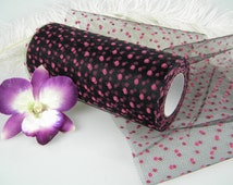 """Polka Dot Tulle 25 Yards  6"""" Wide 