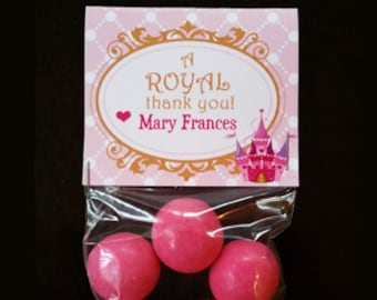Princess Bag Toppers, Personalized Tags - Royal Collection